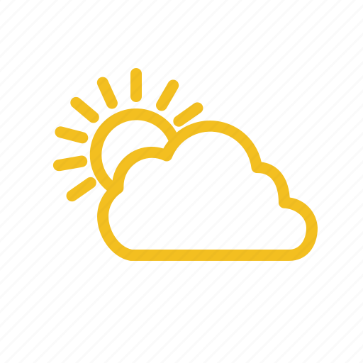 bright, cloudy, forecast, warm, weather icon