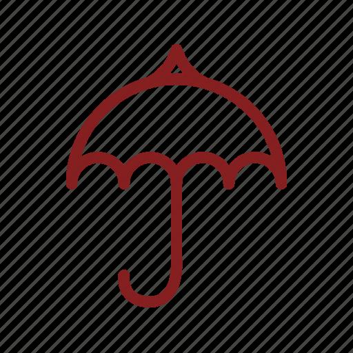 care, comfort, protect, rain, rain symbol, season, umbrella icon