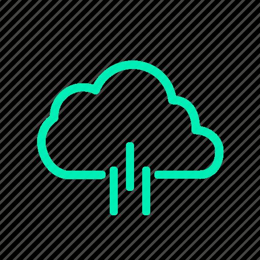 cold, rain, rainy day, weather icon icon