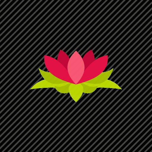 floral, flower, lotus, nature, petal, plant, silhouette icon