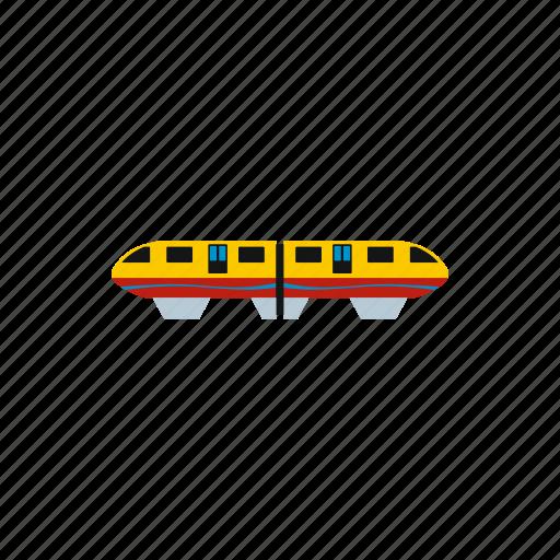 modern, monorail, rail, singapore, train, transport, travel icon