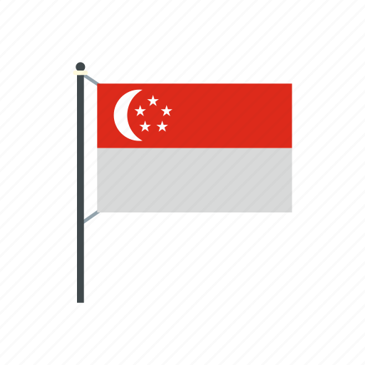 country, flag, nation, national, singapore, singaporean, wind icon