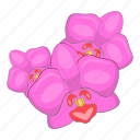 orchid, flower, nature, plant icon