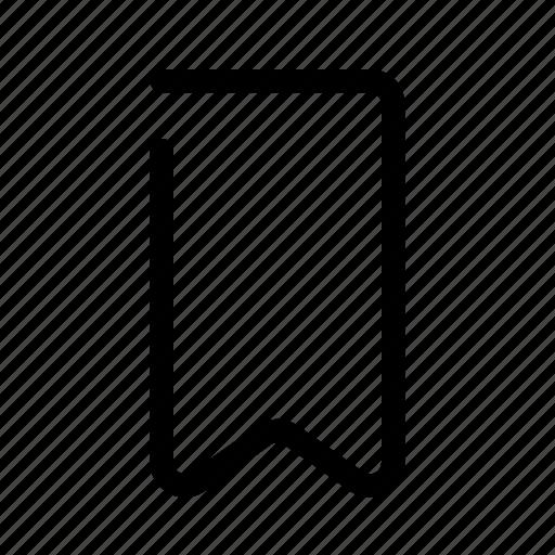bookmark, mark, read, ribbon, tag icon
