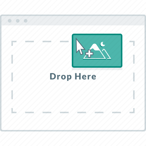 browser, drag, drop, layout, page, website, wireframe icon