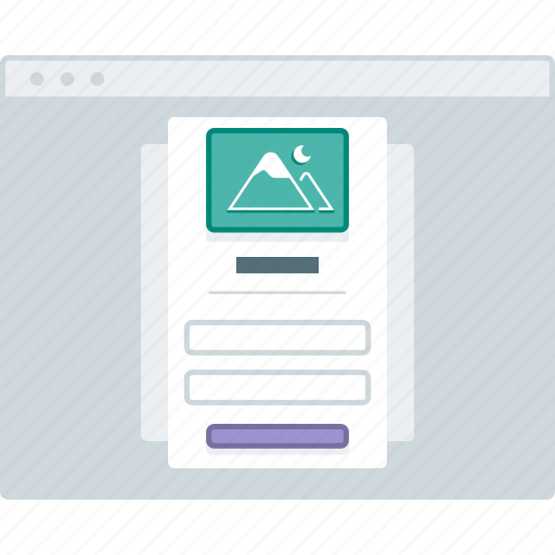 browser, layout, login, page, website, wireframe, workflow icon