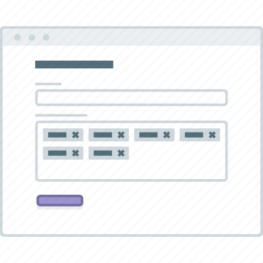 browser, layout, page, tags, website, wireframe, workflow icon