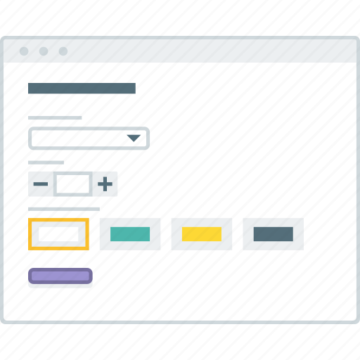 browser, form, layout, page, setting, website, wireframe icon
