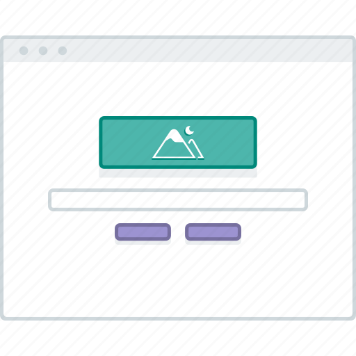 browser, engine, layout, page, search, website, wireframe icon