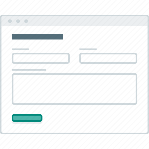 browser, form, forms, layout, page, website, wireframe icon