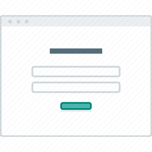 browser, forms, layout, login, page, website, wireframe icon