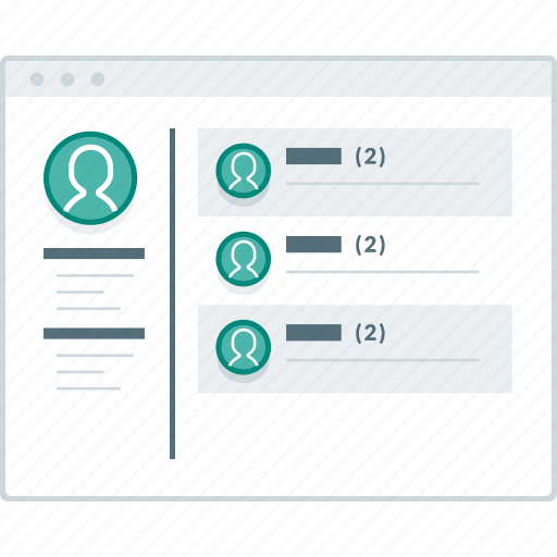 browser, inbox, layout, page, website, wireframe, workflow icon