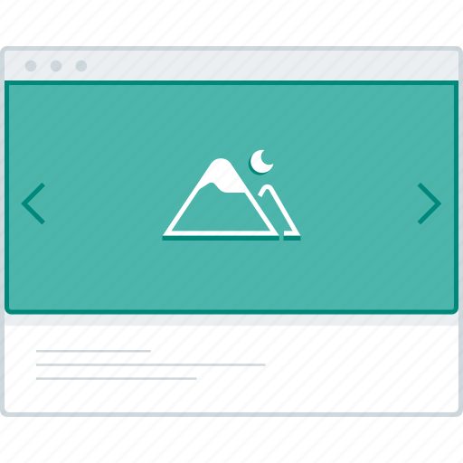 browser, layout, page, slider, website, wireframe, workflow icon