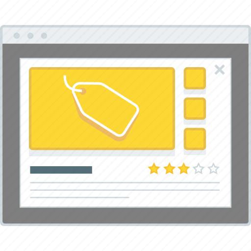 details, ecommerce, layout, modal, product, website, wireframe icon