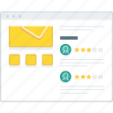 ecommerce, layout, page, product, review, website, wireframe icon