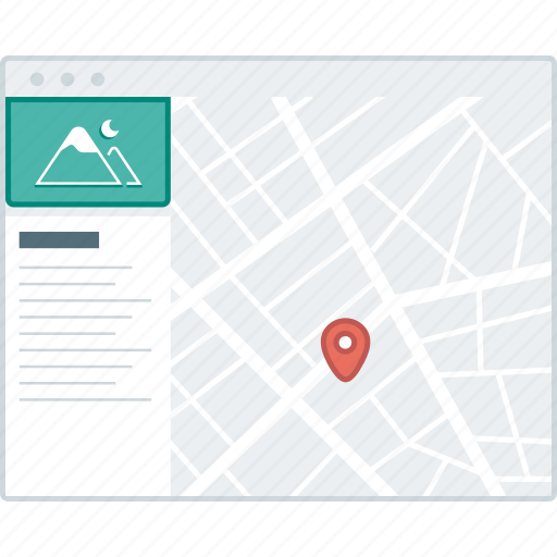 details, layout, location, page, website, wireframe, workflow icon