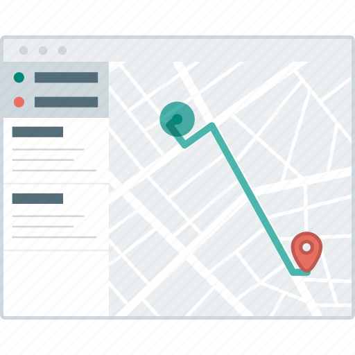 browser, direction, layout, location, page, website, wireframe icon