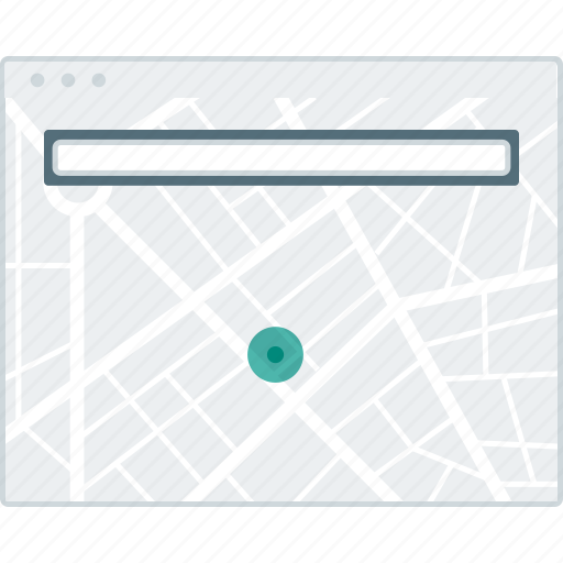 browser, layout, location, page, search, website, wireframe icon