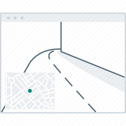 browser, layout, page, street, view, website, wireframe icon