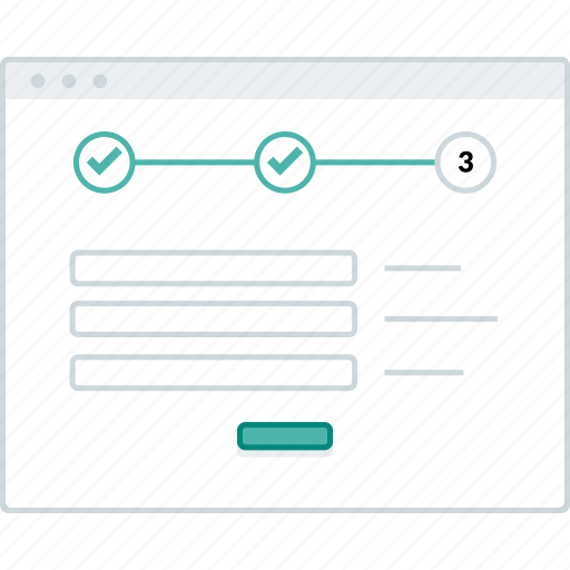 form, layout, page, process, step, website, wireframe icon
