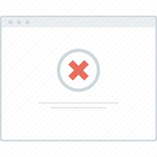 browser, error, layout, page, website, wireframe, workflow icon