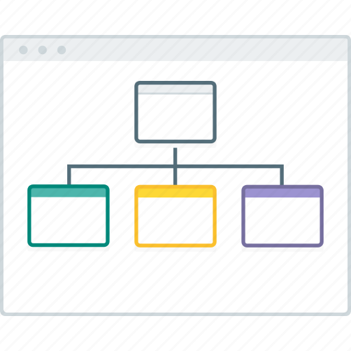 browser, layout, map, page, site, website, wireframe icon