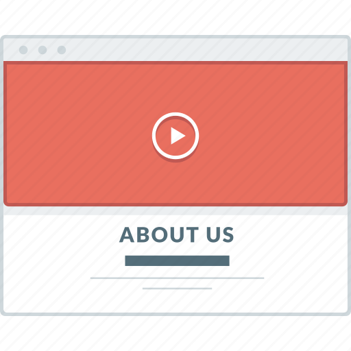 about us, browser, layout, page, website, wireframe, workflow icon
