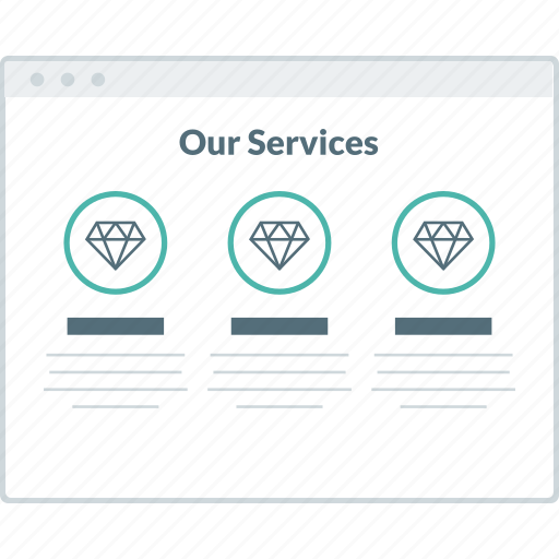 browser, layout, page, services, website, wireframe, workflow icon