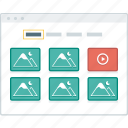 browser, filter, layout, page, portfolio, website, wireframe icon