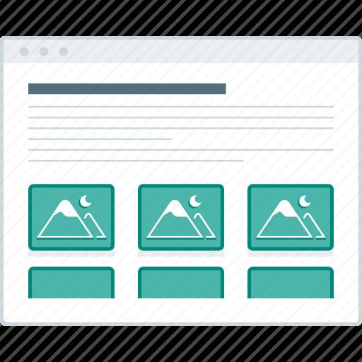 browser, layout, page, portfolio, website, wireframe, workflow icon
