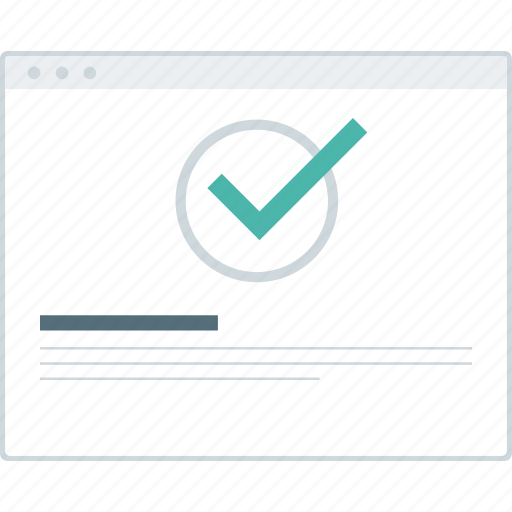 browser, layout, page, register, success, website, wireframe icon