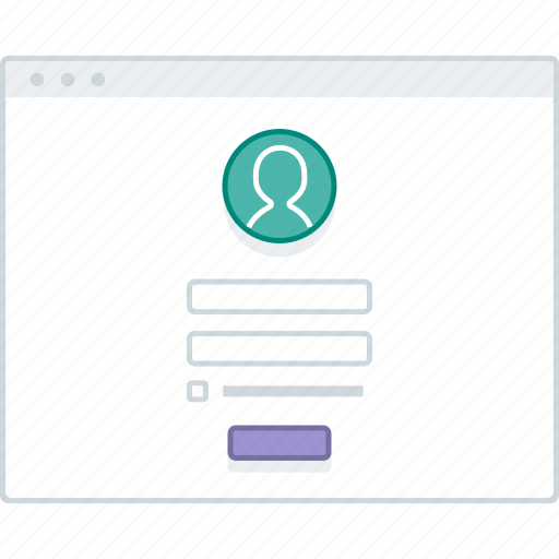 browser, layout, login, page, sign in, website, wireframe icon