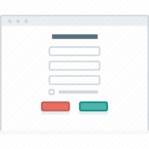 browser, form, layout, page, sign up, website, wireframe icon