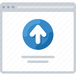 arrow, flowchart, sitemap, upload, web icon