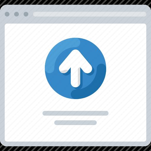 arrow, flowchart, sitemap, upload, web icon