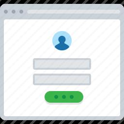 flowchart, form, login, sitemap, web icon