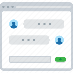 chat, conversation, flowchart, message, sitemap, web icon