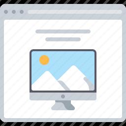 features, flowchart, imac, pc, preview, sitemap, web icon