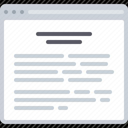 blog, document, flowchart, sitemap, text, title, web icon