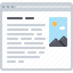 article, blog, flowchart, sitemap, text, web icon