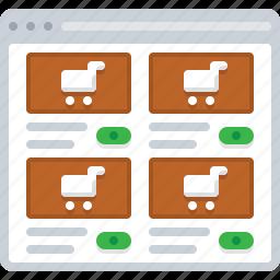 ecommerce, flowchart, goods, shop, sitemap, web icon