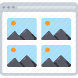 gallery, image, kit, photo, preview, sitemap icon