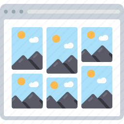 flowchart, gallery, image, photo, pictures, sitemap, web icon