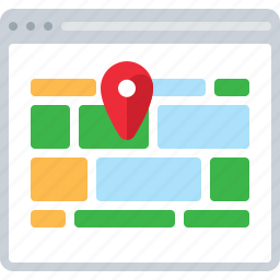 contacts, direction, flowchart, location, map, sitemap, web icon