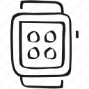 smart watch, smartwatch, watch icon icon