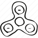 fidget spinner, spinner, toy icon icon