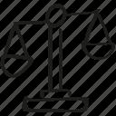 balance icon, justice, law, scales icon