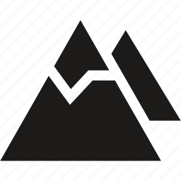 mountains, ski icon
