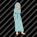 woman, bathrobe, cleanse, skin, care