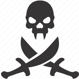 dead, evil, halloween, pirate, skull, swords, vampire icon